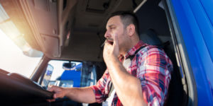 Truck driver causing an accident