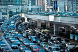 Dozens of cars stuck in traffic during morning commute. Morning commutes are necessary for almost everyone. They are not, however, without harm or risk. Let's see why accidents happen on morning commutes and how dangerous they can be. If you're in an accident, contact a Kansas car accident attorney.
